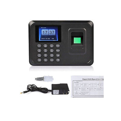 "New 2.4"" TFT LCD USB Fingerprint Time Attendance Clock Employee Payroll Recorder"