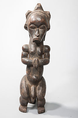 Fang, Male Seated Reliquary Statue, Central Gabon, African Tribal Art, Sculpture