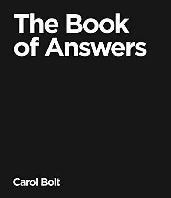 The Book Of Answers, Bolt, Carol Hardback Book The Cheap Fast Free Post