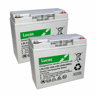 Pair of 22AH Mobility Scooter Battery Replaces 17AH & 18AH REC22-12I V