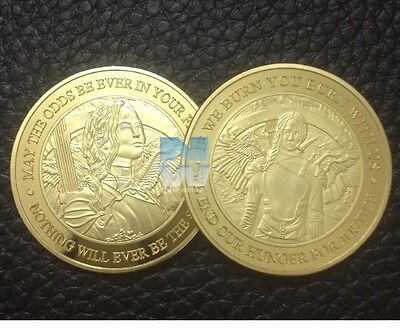 Gold Hunger Games Coin Birthday Anniversary Novelty Gift