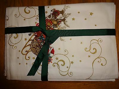 Williams Sonoma TWAS THE NIGHT BEFORE CHRISTMAS~PLACEMATS~SET OF 4~BRAND NEW