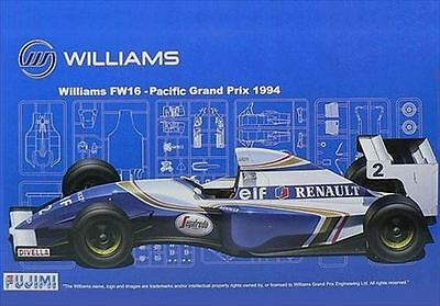 Fujimi GP21 1/20 F1 Williams FW16 Pacific GP 1994 Rare from Japan