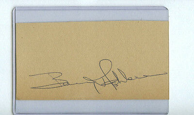 Barry Ashbee Signed Cut Autograph D.1977 Philadelphia Flyers Retired #4/bruins
