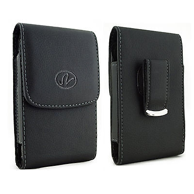 Large Leather Case Holster fits w/ Otterbox on MetroPCS Kyocera Phones