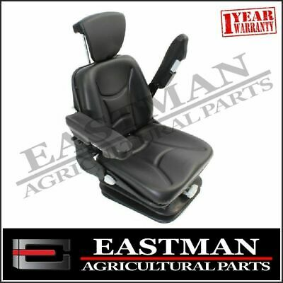 Low Back Cab Mount Suspension Seat With Arm Rests - Tractor Backhoe Excavator