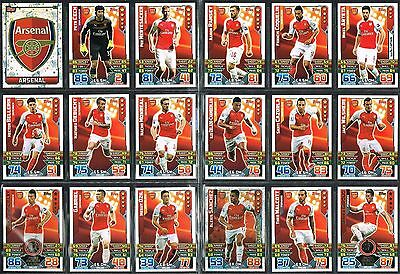 Arsenal Match Attax 2015/16 Topps football cards 2016 Star player Away kit Badge