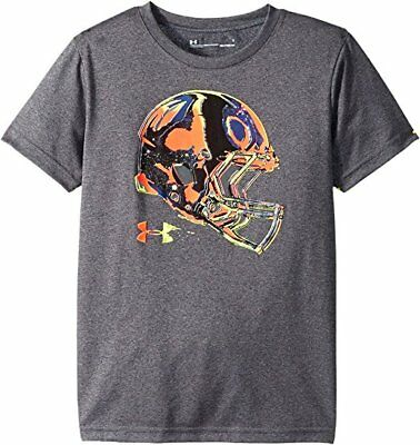 Under Armour Athletic Shirt Boys - Helmet Front 2T 3T 4T Grey New