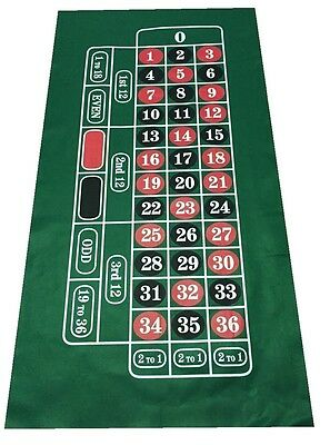 HUGE ROULETTE BAIZE / FELT - Layout - Baize + 200 NUMBERED CHIPS