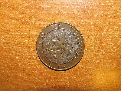 Netherlands 1903 2 1/2 Cents coin Very Fine nice