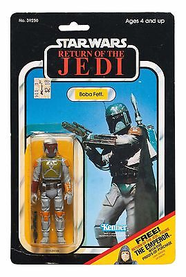 SUPER RARE Star Wars Return of the Jedi '65C-BACK' Boba Fett Action Figure, 1983