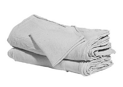 100 Industrial Shop Rags / Cleaning Towels White Jumbo 16''x24'' Large Shop Rag