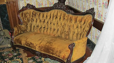 Victorian Rococo Revival Sofa - Belter Style