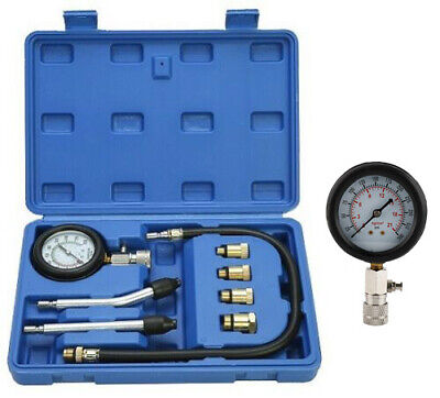 Cylinder Compression Tester Test Tool Kit Professional Mechanics Gas Engine USA