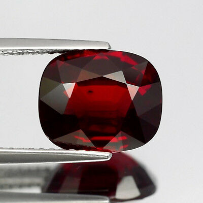 Big! 4.65ct 10.5x9mm Cushion Natural Unheated Deep Orangish Red Almandine Garnet