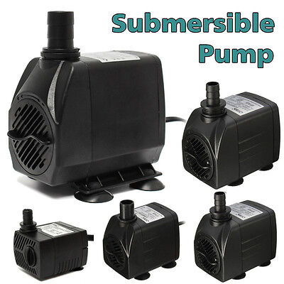 300/600/1000/1500/2500 LPH Submersible Water Fountain Pump for Fish Tank Pond