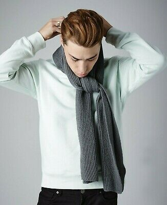Beechfield Metro Knitted Scarf Ladies Snug Ribbed Knit Soft Touch Scarf (B469)