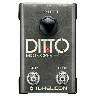 TC Helicon Ditto Mic Vocal Looper Vocal Loop Effects Pedal