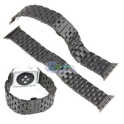 42mm Stainless Steel Watch Band Butterfly Lock Link Strap For Apple Watch iWatch
