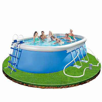 Bestway 16ft x 10ft x 42in Oval Swimming Pool with filter pump, ladder, cover +