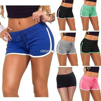 Pantaloncini corti Donne Cotone Sport Casual Gym Yoga Running Shorts Hot Pants