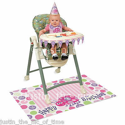 FIRST 1ST BIRTHDAY 4 Piece Highchair Kit - Pink or Blue
