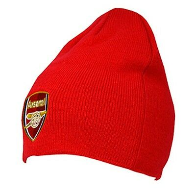 Arsenal FC Official Product Beanie Hat Red Club Crest Embriodery New Season