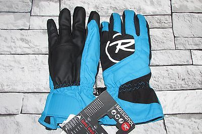 ROSSIGNOL Youths/Small Mens Blue & Black Ski Skiing Gloves BNWT