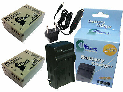 2x Battery +Charger +Car Plug +EU Adapter for Canon PowerShot G12, NB-7L
