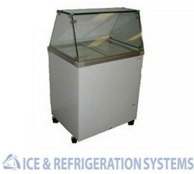 "Fricon 32"" Commercial 4 Flavor Ice Cream / Gelato Dipping Cabinet Freezer"