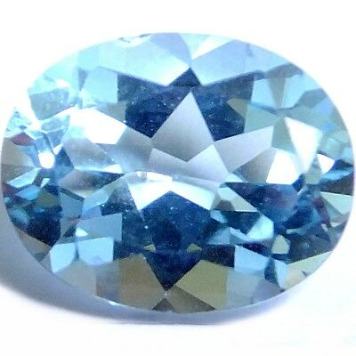 NATURAL SUPERB AAA BLUE TOPAZ LOOSE GEMSTONE (10.1 x 8.1 mm) OVAL CUT