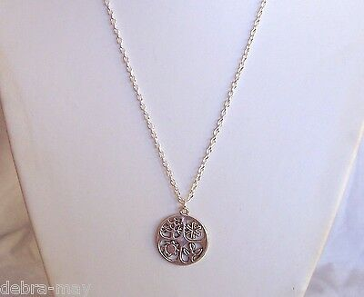 "Four Seasons Wheel of the Year Equinox Pendant 24"" Chain Necklace Celtic Pagan"