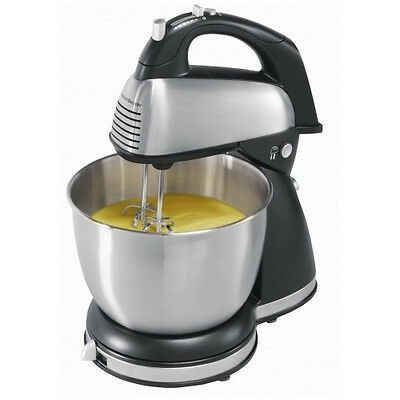 6 Speed Classic Mixer Bowl Stand Stainless Steel Kitchen Baking Mixing Chef Set