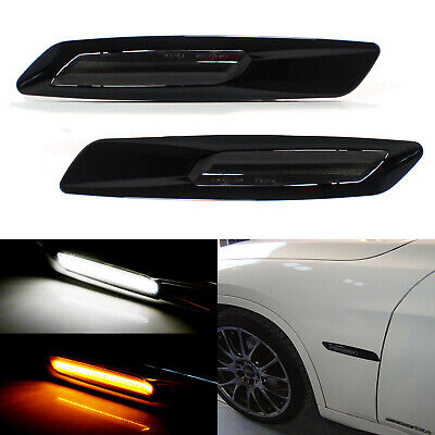 BMW F10 Style White/Amber Switchback LED Light Side Marker Lamps For 1 3 Series