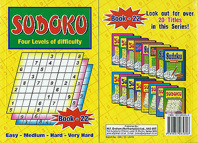 Sudoku Book 110+ Puzzles A5 Size Book Brand 4 Levels Of Difficulty Book 22