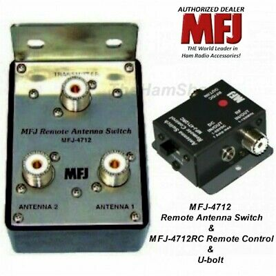 MFJ 4712 - 2-Position Remote Antenna Switch & MFJ-4712RC Remote Control & U-bolt