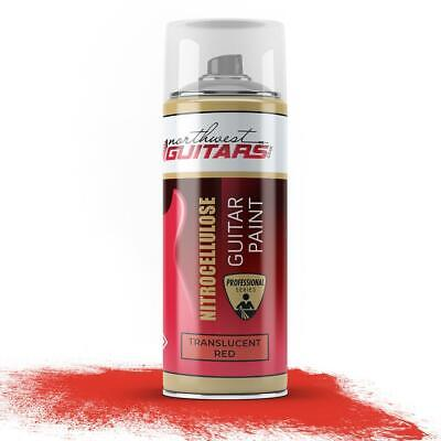 Translucent Red Nitrocellulose Guitar Paint / Lacquer 400ml