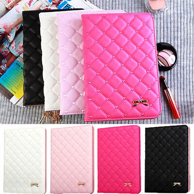 Luxury Bowknot Leather Smart Cover Stand Case for Apple iPad2 3 4 Air Air 2 mini