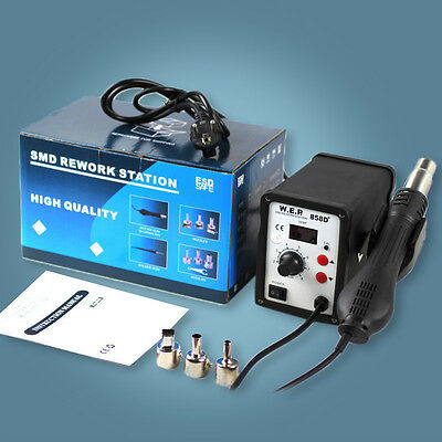 WEP 858D+ SMD SMT SOLDERING REWORK STATION welder SOUDURE soudeur HOT AIR BEST