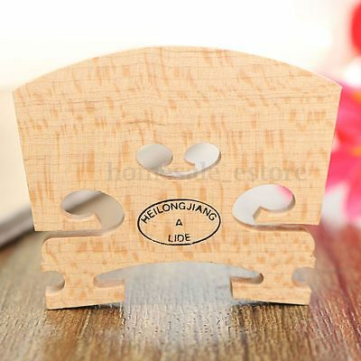 1X Maple Violin Bridge Regular Type U Shaped Insert 1/8, 1/4, 1/2, 3/4, 4/4 Size