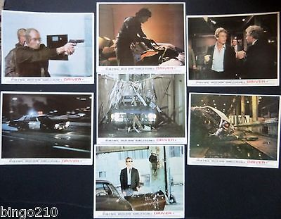 The Driver Orig 1978 Lobby Cards X 7 Ryan Oneal Bruce Dern Walter Hill