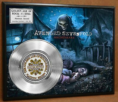 A7X Limited Edition Platinum Record Poster Art Music Memorabilia Display