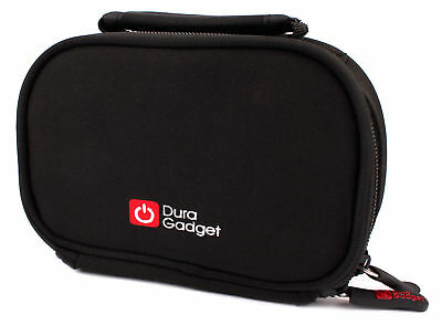 Black Neoprene Carry Pouch for Sony Handycam HDR-CX190 w/ Tiered Interior Design