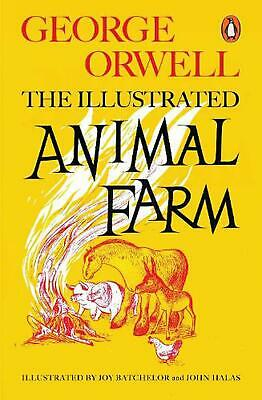 Animal Farm: The Illustrated Edition by George Orwell Paperback Book Free Shippi
