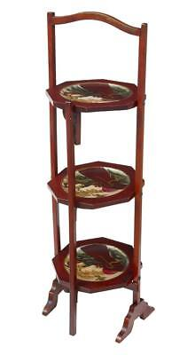 1920's JAPANESE LACQUER 3 TIER CAKE STAND