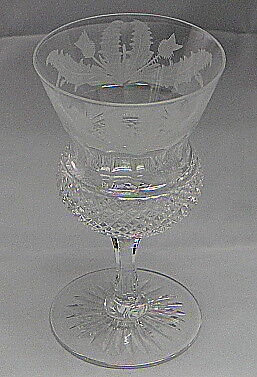 Edinburgh Thistle (Cut)  Sherry Glass