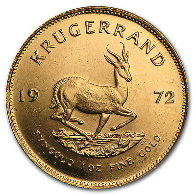 1972 1 oz Gold South African Krugerrand Coin