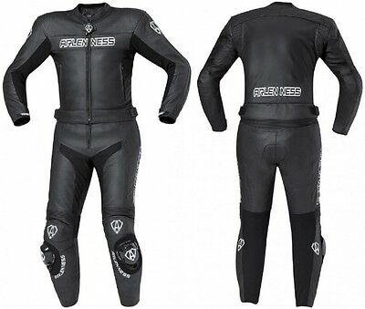 Arlen Ness Black Star II Leather Suit Black Motorcycle Clothing Leather NEW