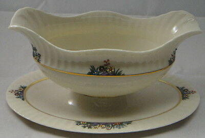 Lenox Rutledge Gravy Boat W/Attached UP
