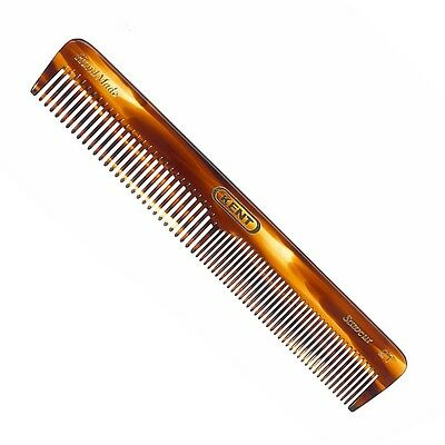 Kent 2T 158mm Comb - Fine & Coarse Toothed Handmade Sawcut General Grooming Comb